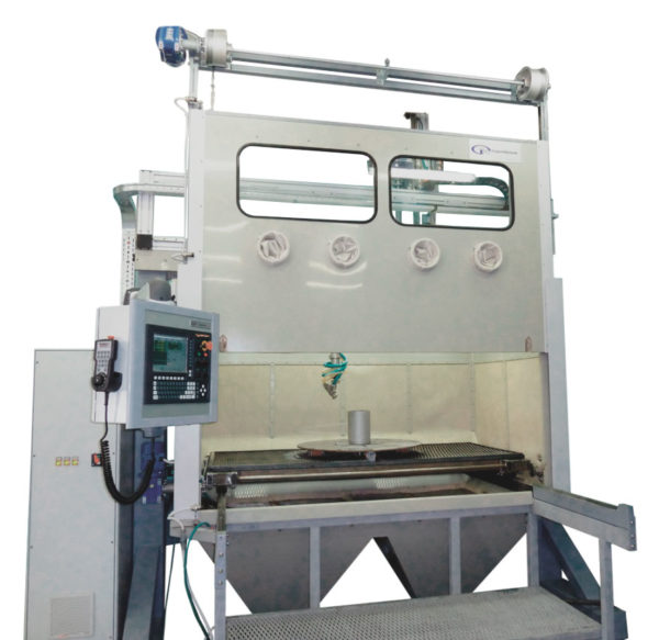 Установка-автомат гидроабразивной очистки 5-ти координатная КС-1402А 5D.