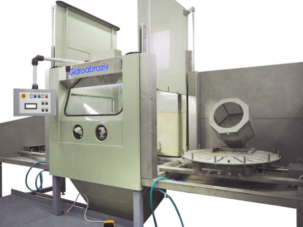 Установка гидроабразивной очистки проходного типа КС-150АП