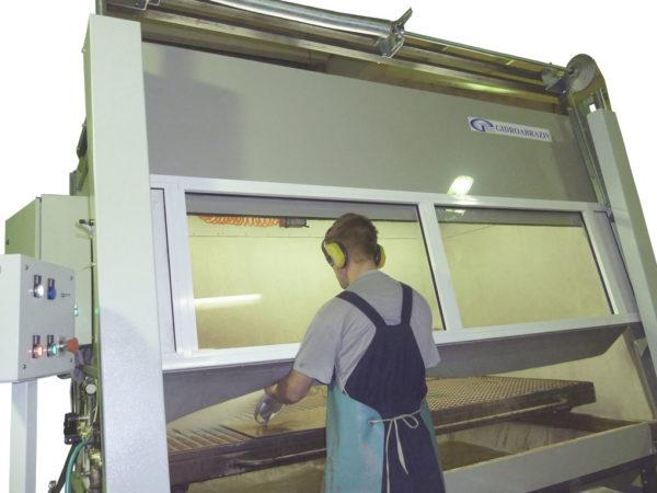 Гидроабразивная обработка в камере КОТ-300