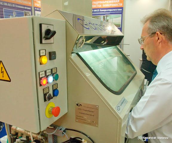 Экологически чистая установка гидроабразивной очистки МС-40/СК