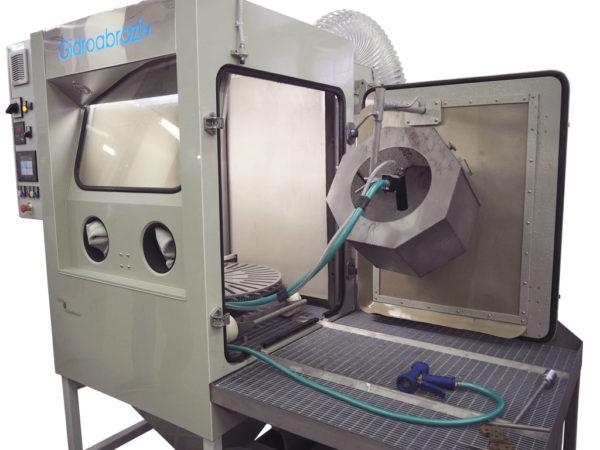 Установка гидроабразивной очистки КС-100ВСГД с галтовкой и автоматическим вращающимся столом