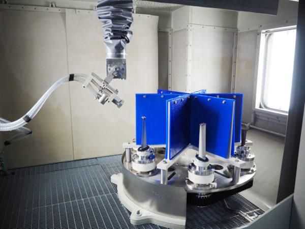 Гидроабразивная обработка турбинных лопаток авиадвигателя