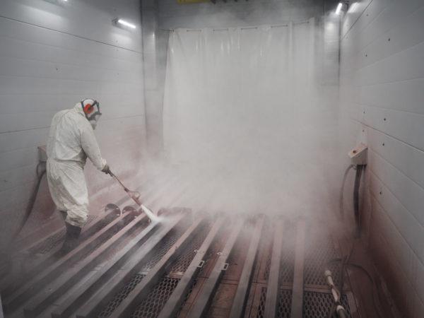 Высшее качество гидроабразивной очистки Sa3