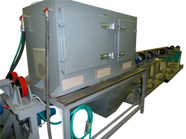 Установка гидроабразивной очистки наружной поверхности нефтяных труб
