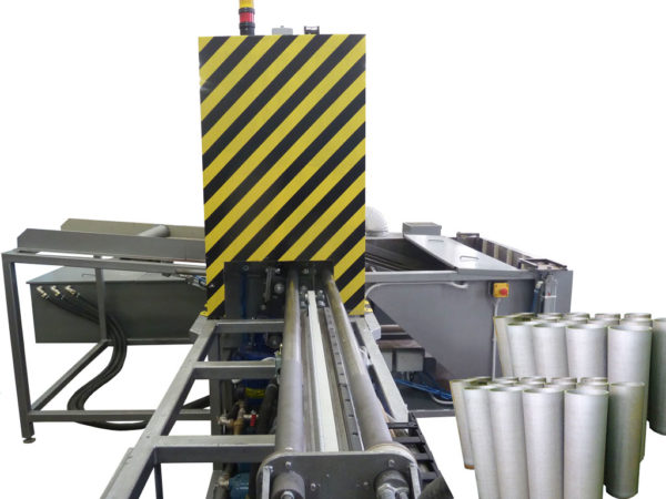 Установка гидроабразивной очистки коротких труб