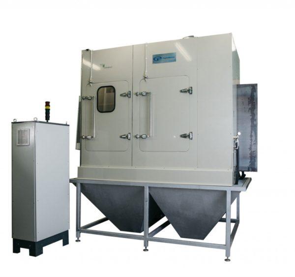 Установка гидроабразивной очистки листа проходного типа КЛ-1600