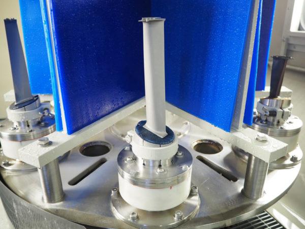 Снятие ТЗП с турбинных лопаток