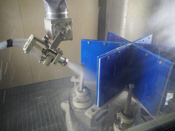 Снятие термозащитного покрытия с авиационных лопаток гидроабразивной струёй