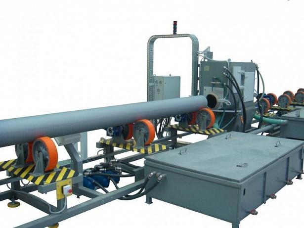 УНОТ Установка гидроабразивной очистки наружной поверхности труб