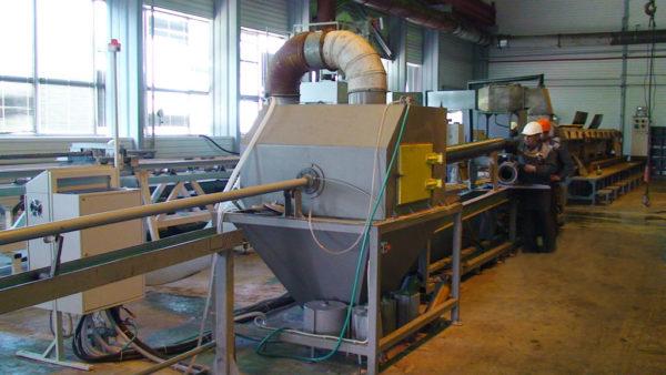Установка гидроабразивной очистки внутренней поверхности труб УВОТ