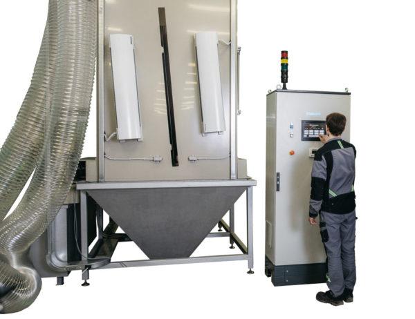 Установка гидроабразивной очистки листа КЛ-1600