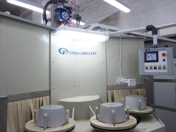 Установка гидроабразивной очистки карусельного типа КТВ-300
