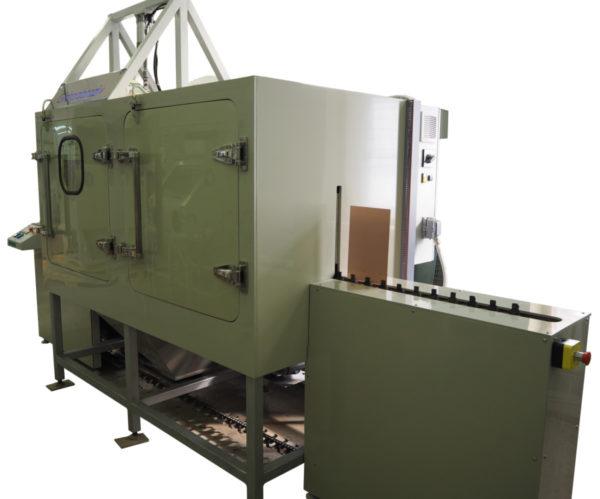 Установка гидроабразивной очистки проходного типа