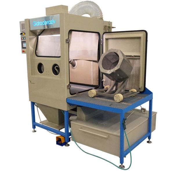 Установка гидроабразивной очистки КС-100ТГ/СК с галтовкой, тележкой, сменными конусами